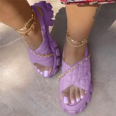 Women's Fashion Plaid Comfortable Casual Sandals