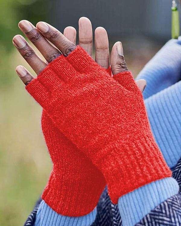 Vintage Statement Plain Fingerless Casual Gloves