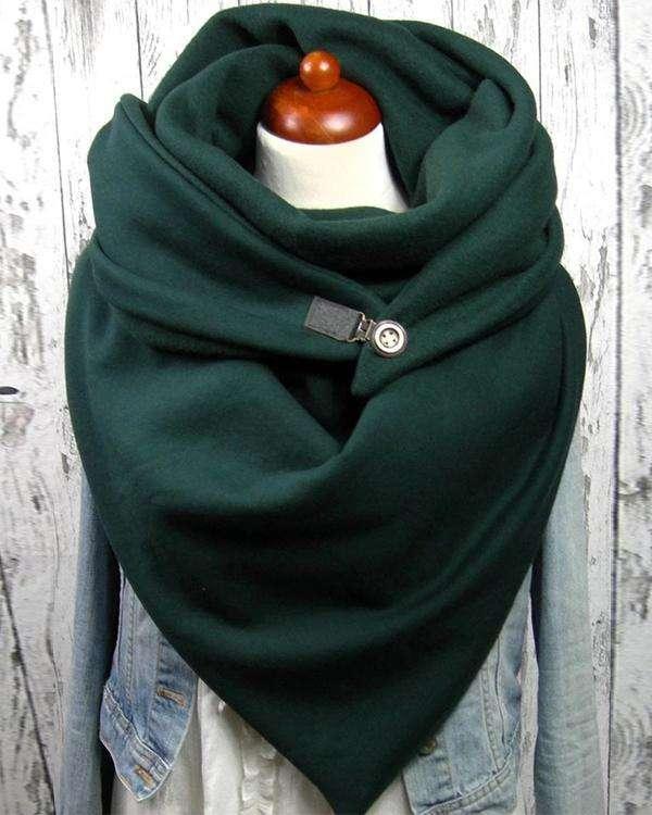 Women Green Scarf Shawl Multi-purpose Neck Wrap Warm Scarf