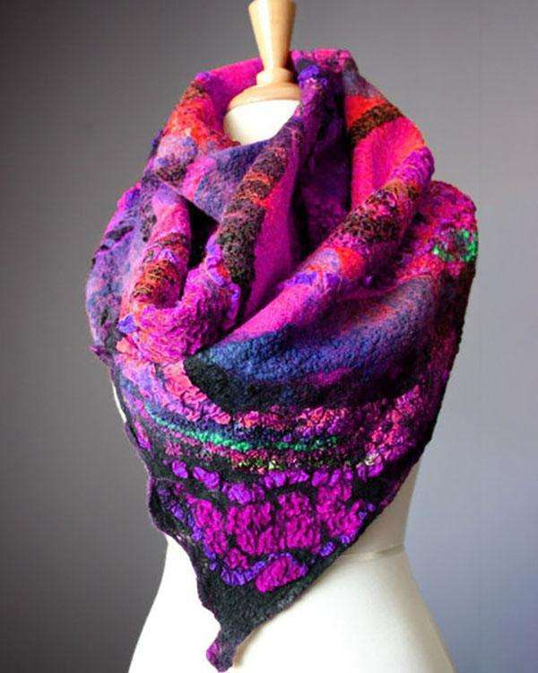 Women Colorful Winter Holiday Scarves
