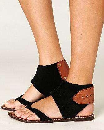 Round Toe Flat Suede Summer Roman Sandals