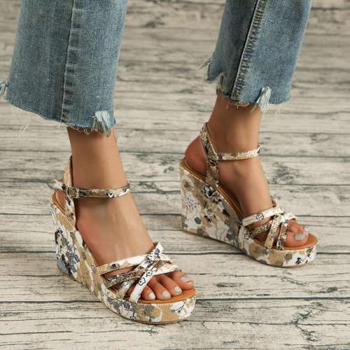 Ethnic Style Colored Platform Women's Shoes
