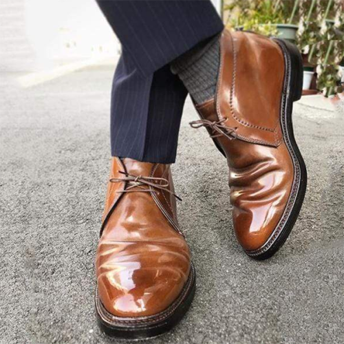 New Customized Fashion Trend Men's Round Toe  Boots