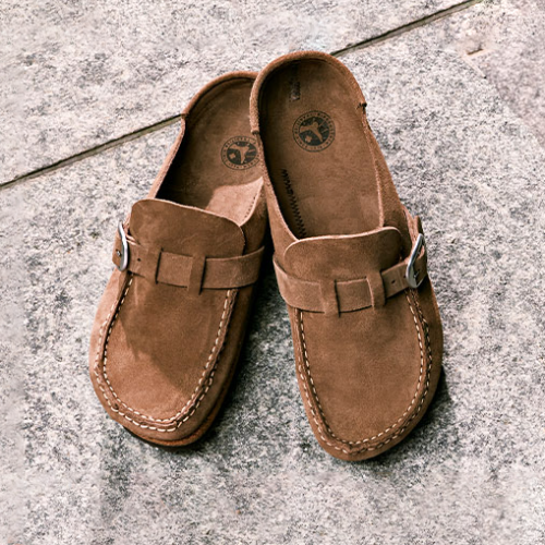 Women'S Comfort&Support Suede Leather Slip On Sandals
