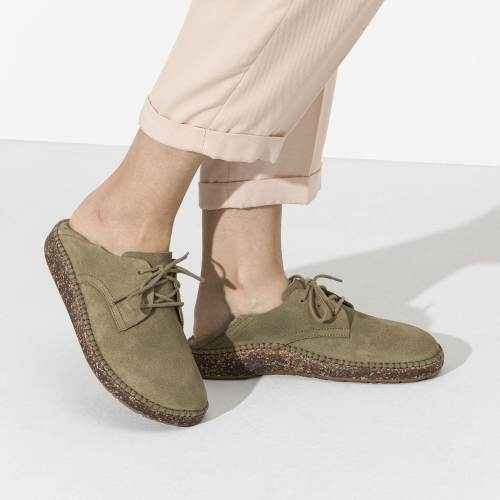 Women'S Comfort&Support Suede Leather Shaped Footbed