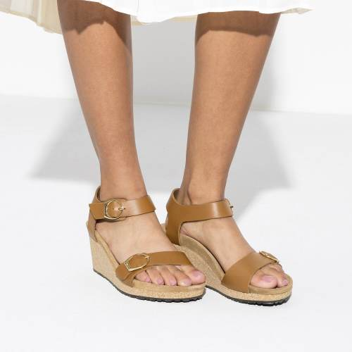 Women'S Comfort Buckle Leather Wedge Shoes