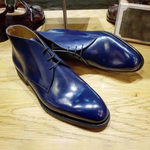 2021 Trendy Low-heeled Retro Round Toe Men's Business Low Boots