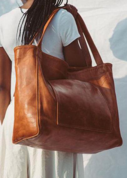 Women Vintage Weekender Bag Soft PU Leather Campus Bag Oversized Shoulder Bag Handbag Tote