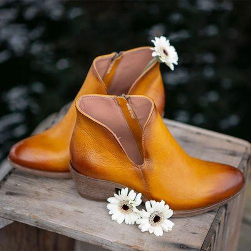 Women's Side Zip Ankle Boots