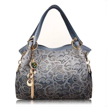 Women Vinage Hollow Out Pendant Shoulder Bags Elegant Retro Handbags