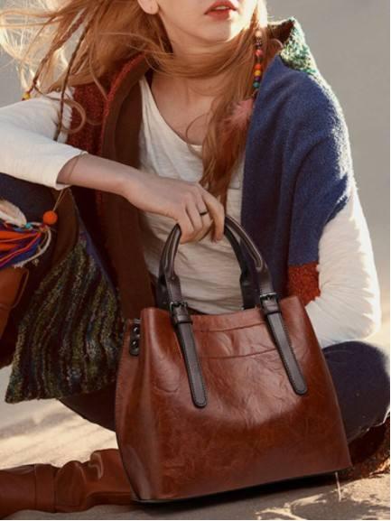 Lightweight Breathable Soft Vintage Large Capacity Handbag