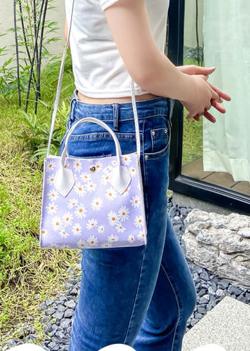 Women Daisy Multifunction Multi-pocket Handbag Shoulder Bag