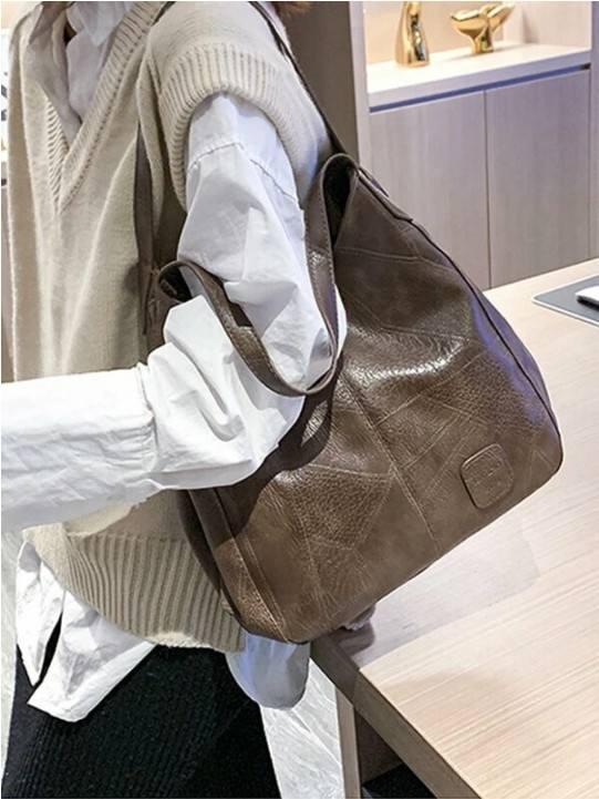 Women Casual Solid Tote Bag Shoulder Bag