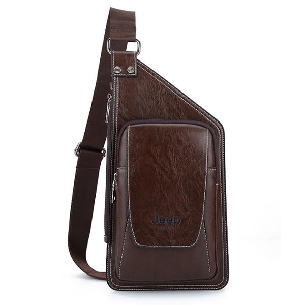 Men's Bag Casual Leather Chest Bag Fashion Diagonal Shoulder Bag