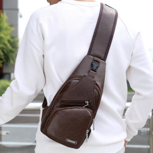 New PU Shoulder Bag Trendy Casual Backpack Messenger Bag
