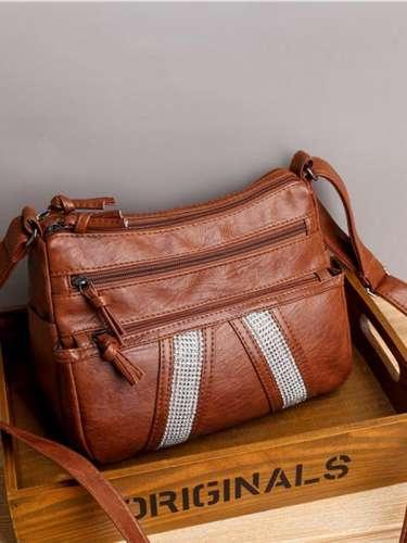 Retro Soft Leather Shoulder Bag