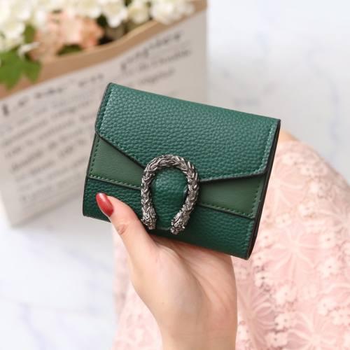 Women's fashion solid color retro wallet