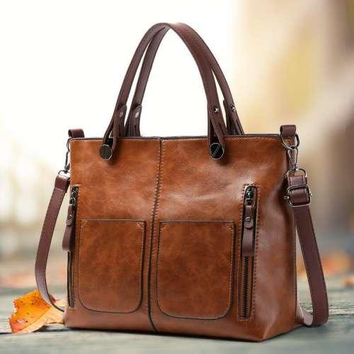 Ladies vintage leather shoulder bag