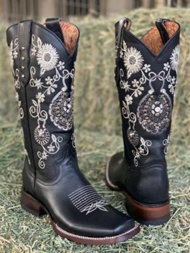 Women Flory Square Toe Boots