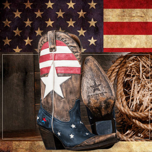 American Patriot Stars & Stripes Cowgirl Boots