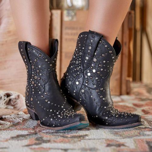 Women Rivet Ankle Booties