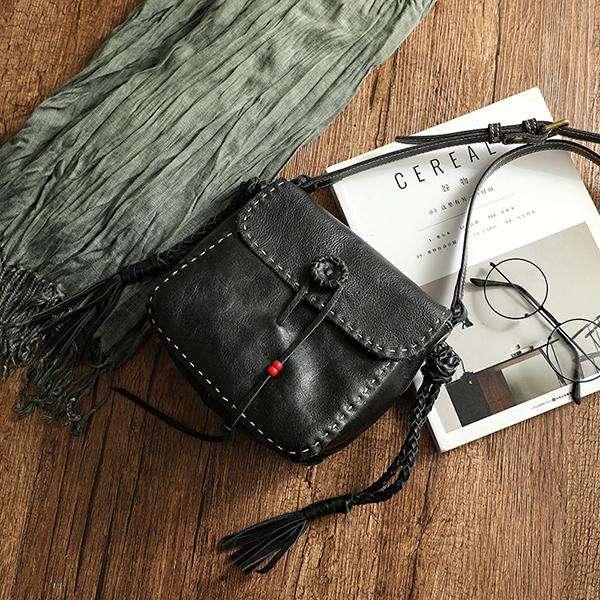 Retro Handmade Creative Woven Tassel Crossbody Bag