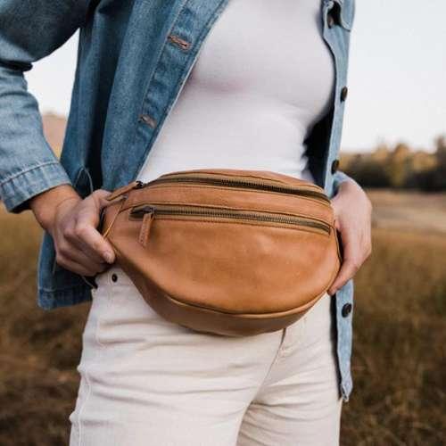 Full Grain Leather Fanny Pack Bum Bag