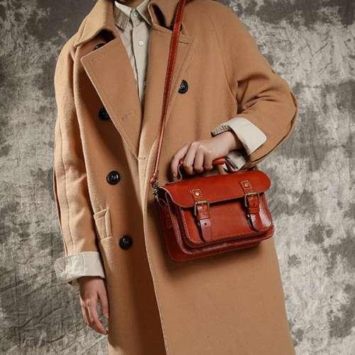 Vintage Handmade Messenger Bag Shoulder Portable Cambridge Bags