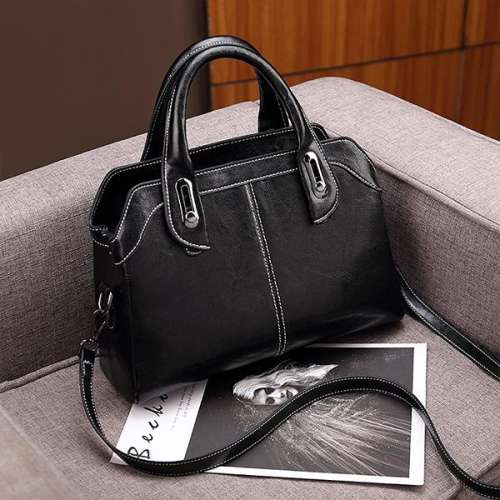 New Fashion Casual Stitching Leather Bag