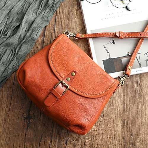 Handmade Soft Leather Flap Bag