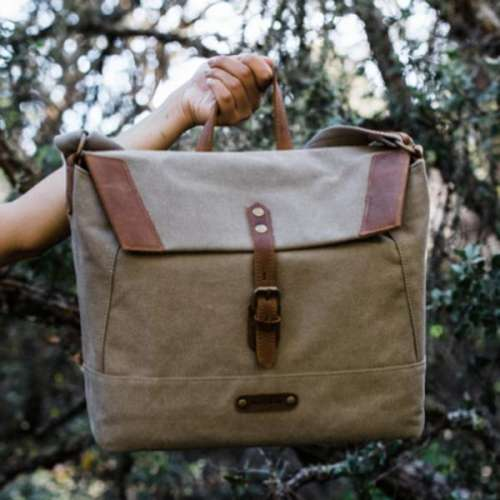 Canvas Leather Messenger Bag