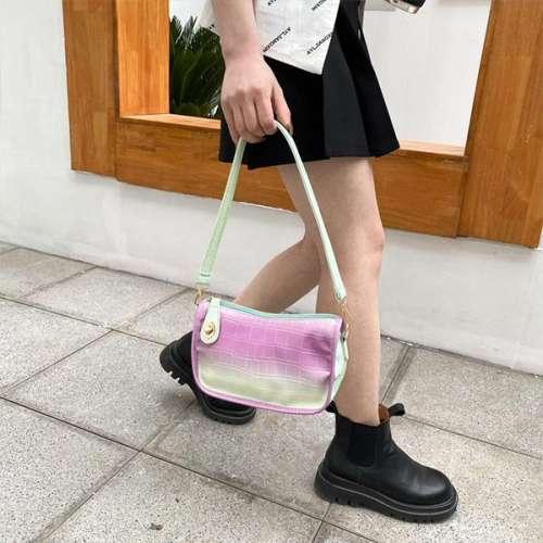 Gradient Color Simple Hand Bag