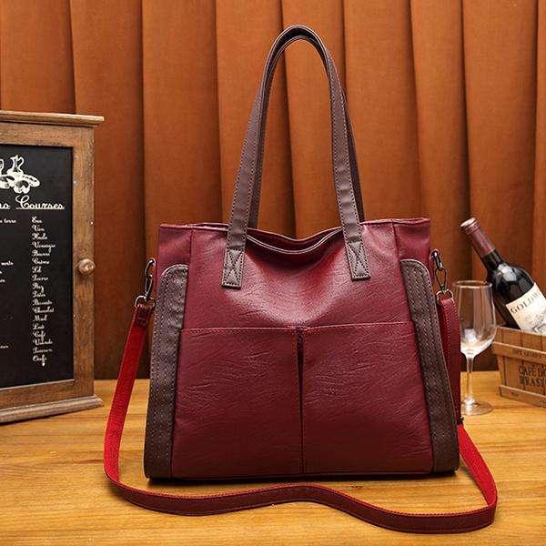 Large Capacity Sheepskin Soft Leather Crossbody Bag