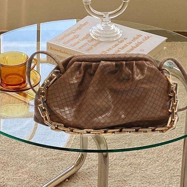 Pleated Braided Chain Dumpling Bag