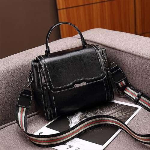 Fashion Oil Wax Color Shoulder Strap Shoulder Bag