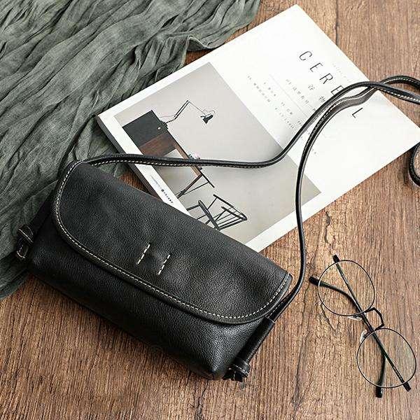 Ladies Retro Diagonal Soft Handmade Leather Bag