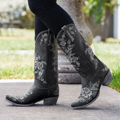 Womens Square Heel Boots