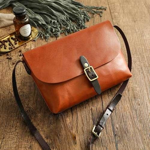 The First Layer Of Leather Handmade Handbags Retro Messenger Bag