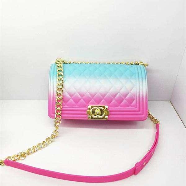 Colorful Diamond Chain Jelly Bag