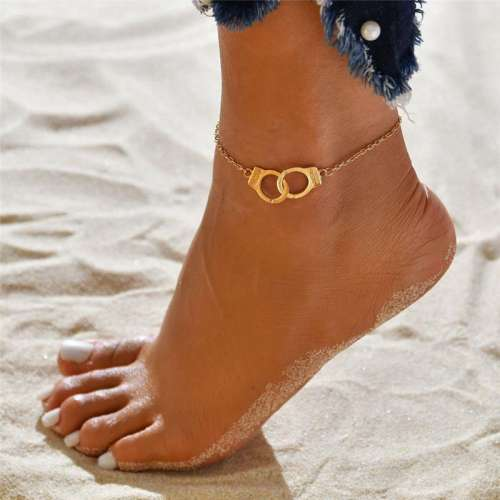 Women Simple Handcuffs Anklet Yoga Beach Ankle Chain