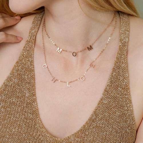 Tiosebon Letter DIY Necklace