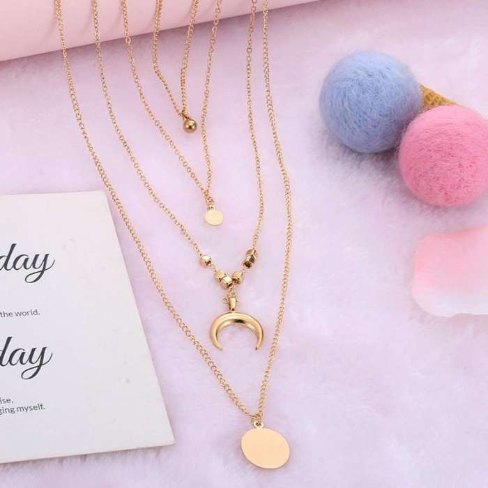 Women Fashion Alloy One Size Multilayer Necklaces
