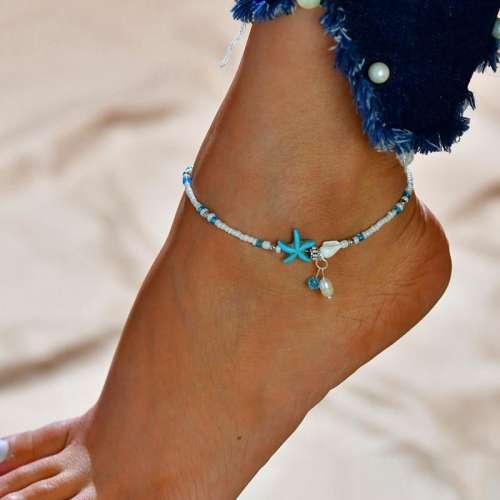 Elegant Simple Starfish Beach Anklets