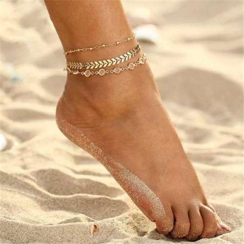 Women Elegant Multi-layer Anklets