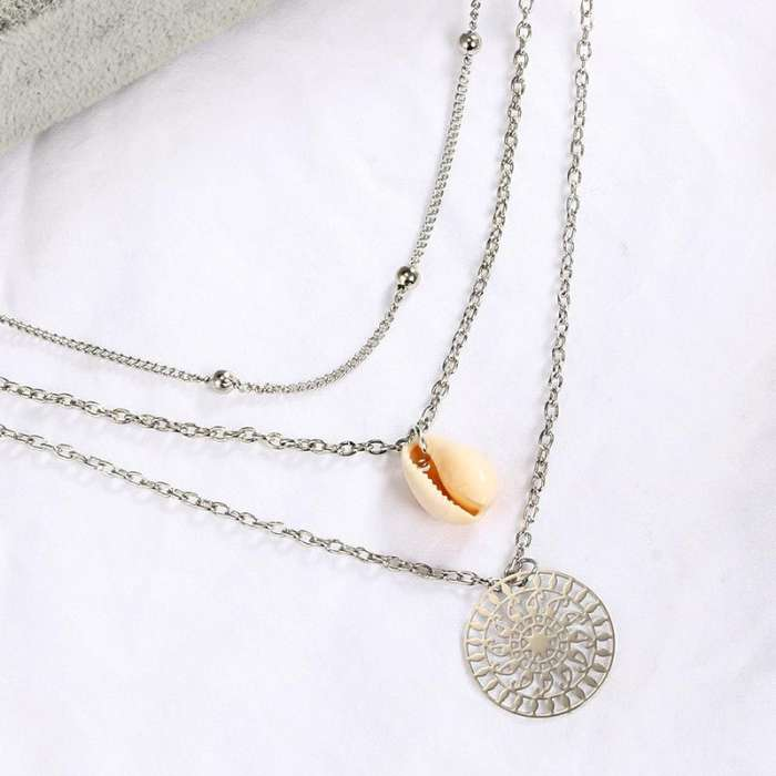 Women Bohemian Shell Multi-layer Necklace