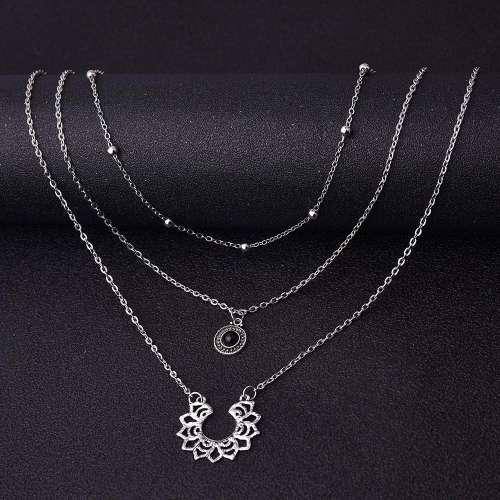 Lotus multi-layer necklace
