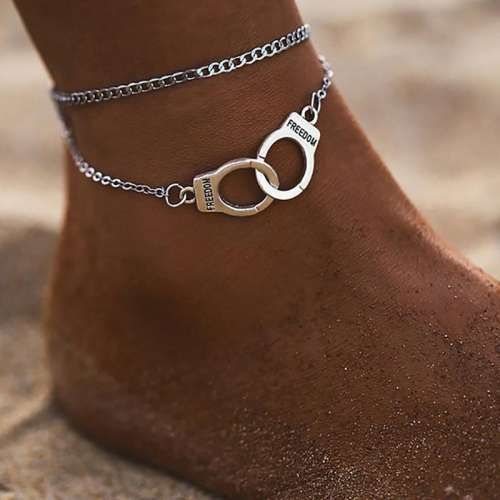 Fashion Beach Double Handcuff Anklets