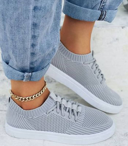 Lacing Mesh Sneakers