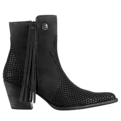 Womens Side Zipper Ankle Booties