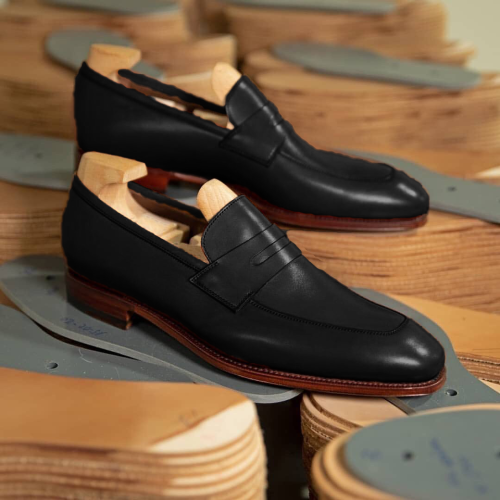 Men's classic and mature style mask slip-on shoes